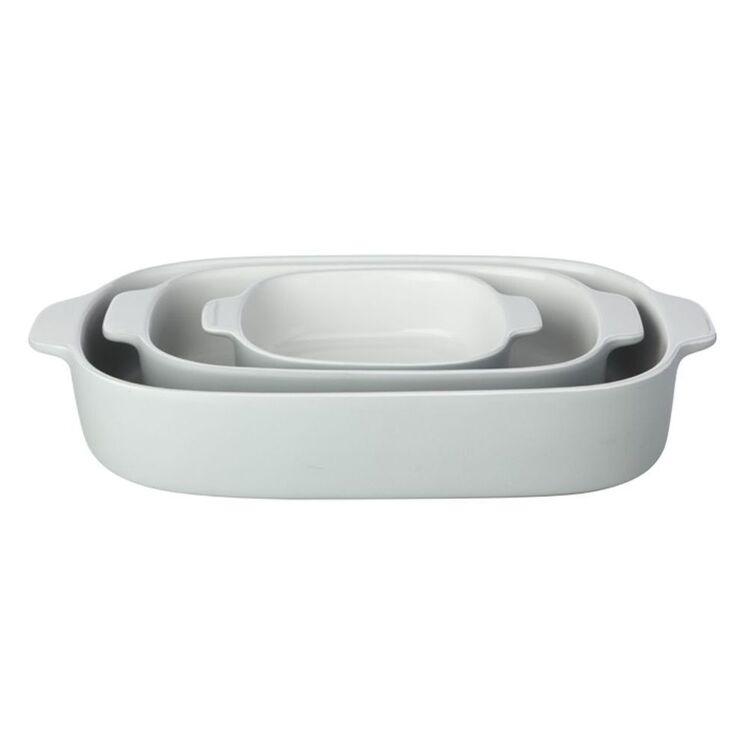 MAXWELL & WILLIAMS Feast Baking Dish Set 3pc Grey