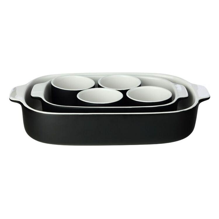 MAXWELL & WILLIAMS Feast Baking Dish Set 6pc Black