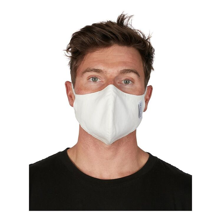 THE GOOD MASK COMPANY Single Cotton Face Mask White