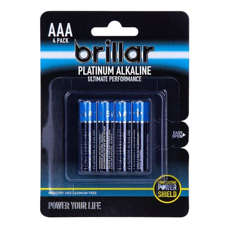 BRILLAR Premium Alkaline AAA Batteries - 4PK