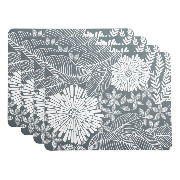 MAXWELL & WILLIAMS ISLAND 4PC CORK BACK PLACEMAT 34X26.5CMGREY
