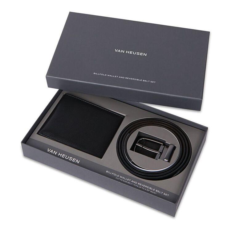VAN HEUSEN Billfold Wallet and Reversible Leather Belt Gift Set