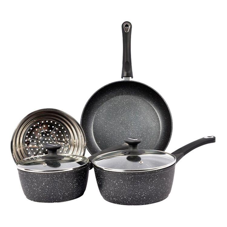 Davis And Waddell DAVIS AND WADELL Marblon 4pc Forged Aluminium Cookset