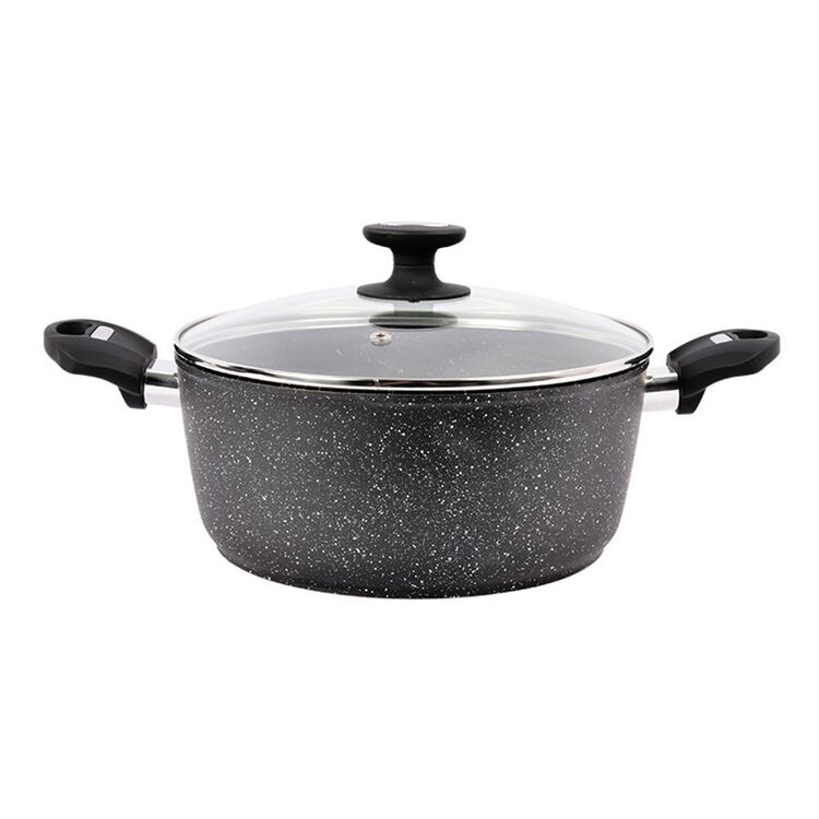 Davis And Waddell DAVIS AND WADELL Marblon Casserole 24cm with Glass Lid