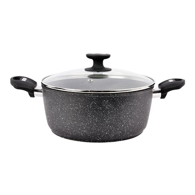 Davis And Waddell DAVIS AND WADELL Marblon Casserole 28cm with Glass Lid