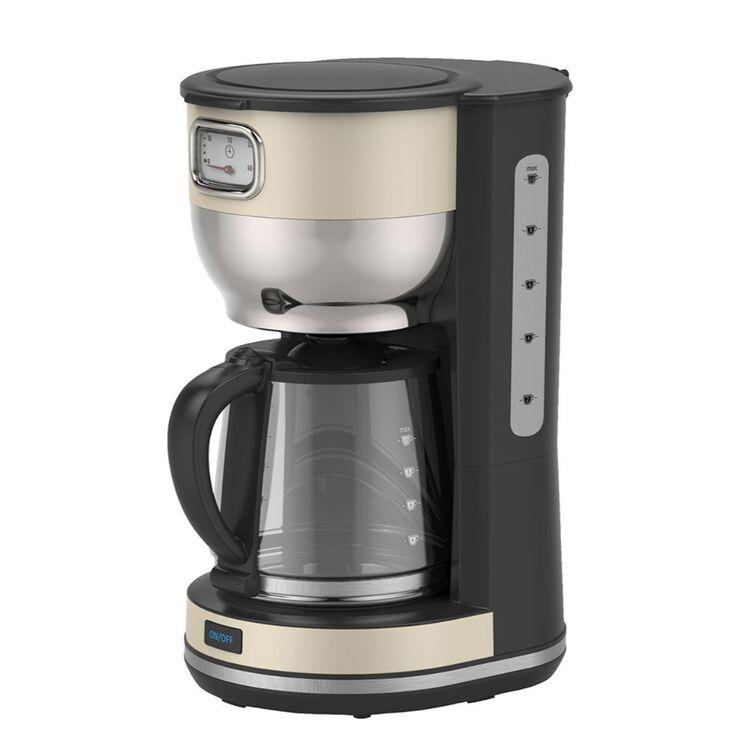SMITH & NOBEL 1.4L RETRO DESIGN COFFEE MAKER CREAM SNRETROCF
