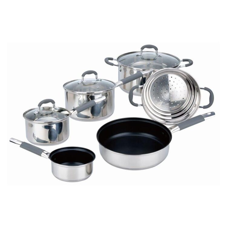 Davis And Waddell DAVIS AND WADELL Argon 6pc Stainless Steel Cookset
