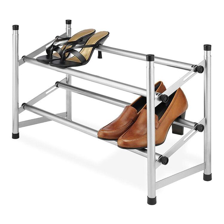 WHITMOR 2 Tier Adjustable Shoe Rack