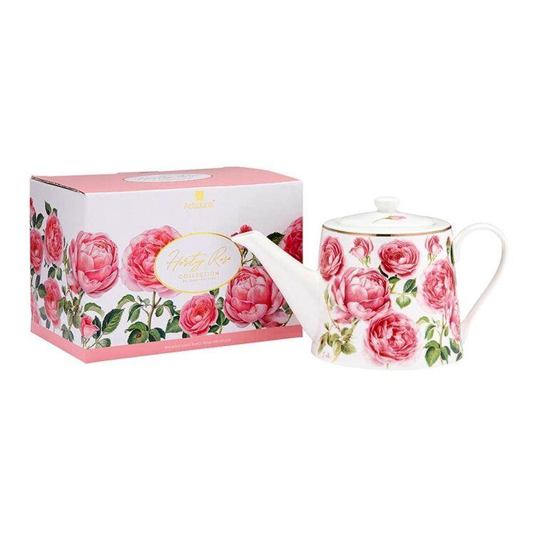 ASHDENE Heritage Rose Infuser Teapot 900ml