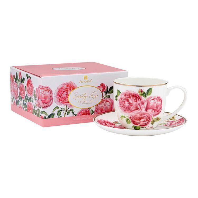 ASHDENE Heritage Rose Cup + Saucer