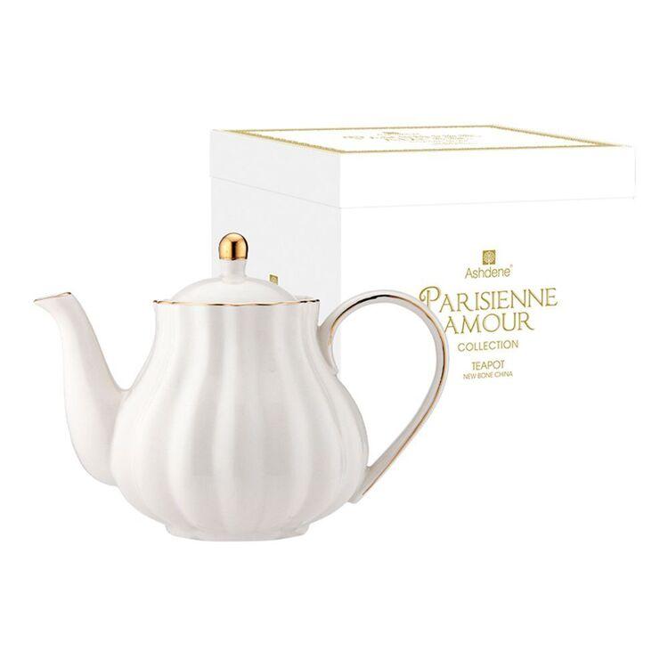 ASHDENE Parisienne Amour Teapot WHITE
