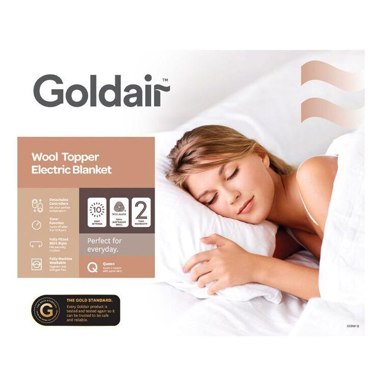 GOLDAIR Platinum Australian Wool Electric Blanket Queen Bed