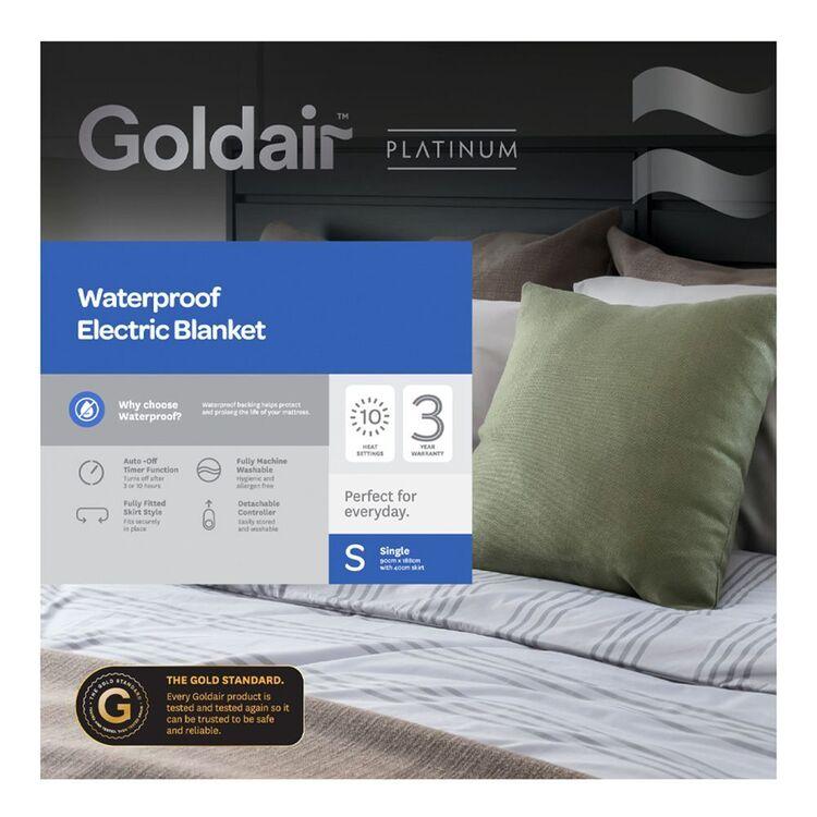 GOLDAIR Waterproof Electric Blanket Single Bed