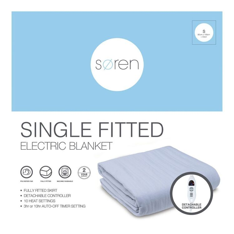 SOREN Fitted Electric Blanket Single Bed