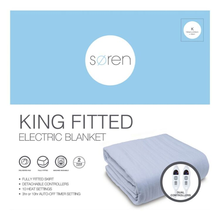 SOREN Fitted Electric Blanket King Bed
