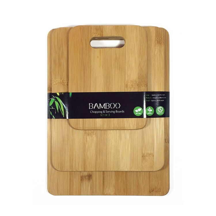 TANGO Bamboo Chopping Boards 3 Piece Pack