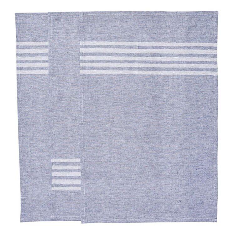 SMITH & NOBEL Nord Tea Towel 3pk Navy 45x70cm