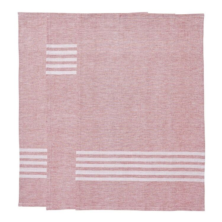 SMITH & NOBEL Nord Tea Towel 3pk Red 45x70cm