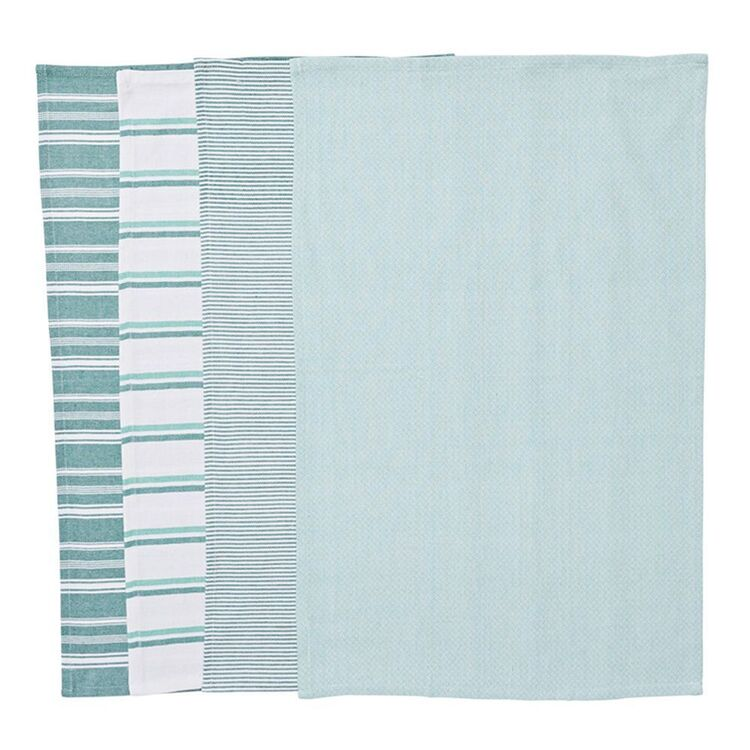 SMITH & NOBEL Provence 4pk Tea Towel Green 45x70cm