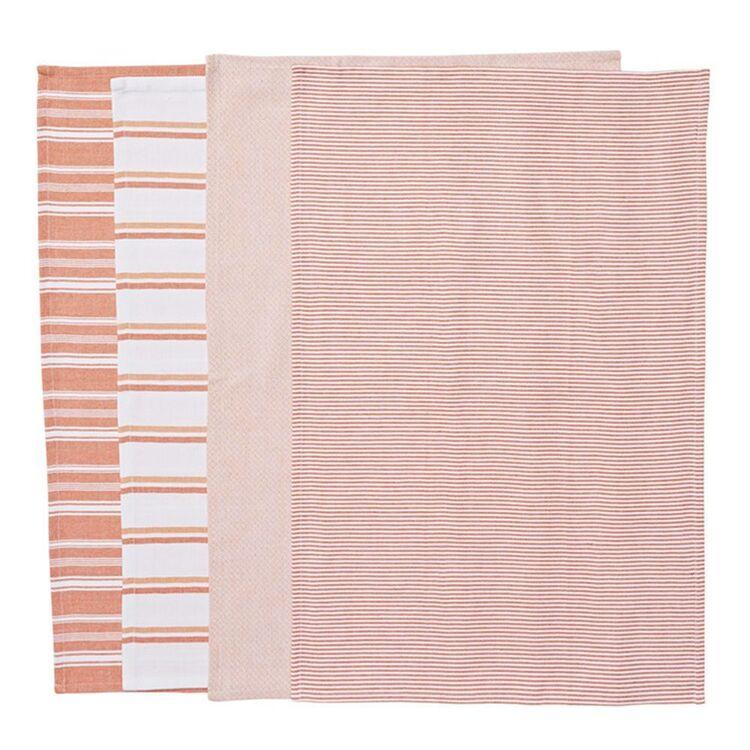 SMITH & NOBEL Provence 4pk Tea Towel Orng 45x70cm