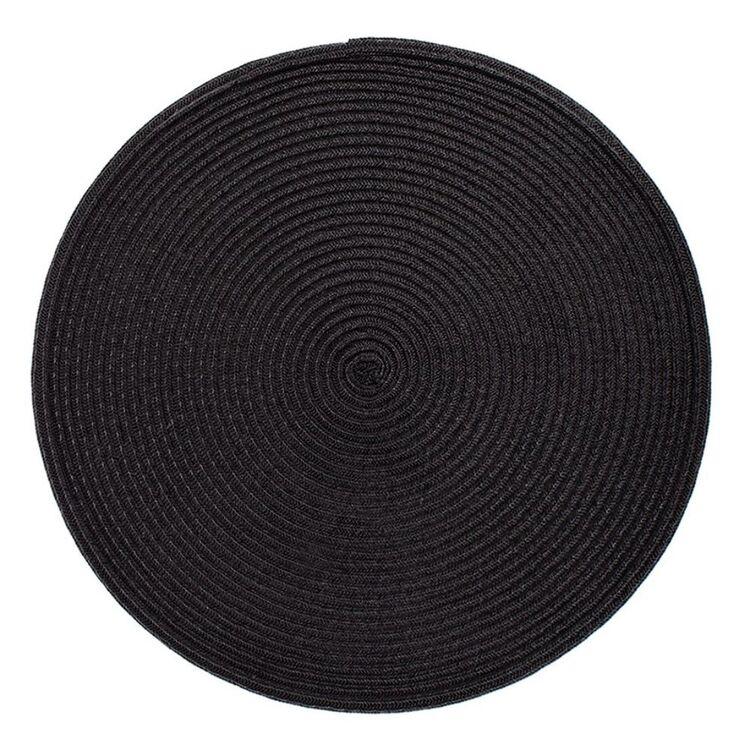 JUST HOME Maison Round Placemat Black 38cm