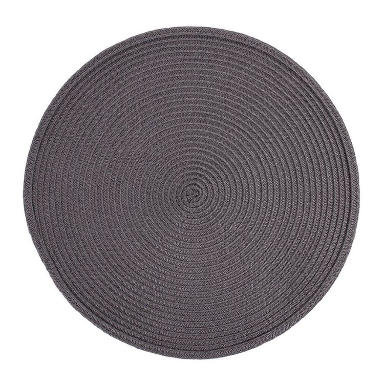 JUST HOME Maison Round Placemat Charcoal 38cm