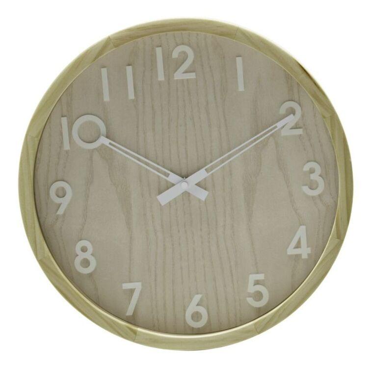 AMALFI BREEN WALL CLOCK NATURAL 32.6CM
