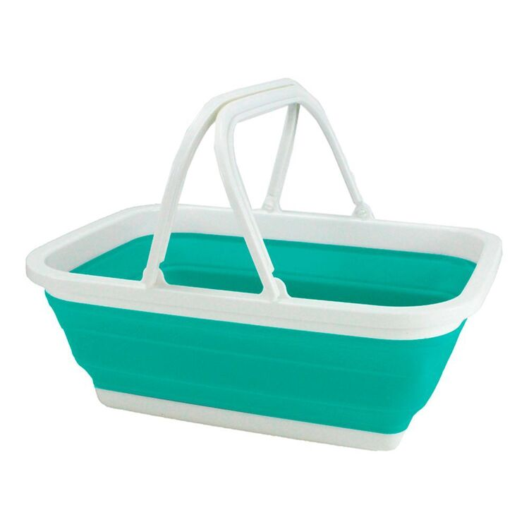 COLLAPSE-A Storage Basket with Handles - Teal