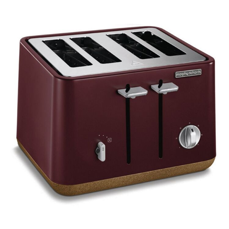 MORPHY RICHARDS Aspect Cork Maroon 4 Slice Toaster