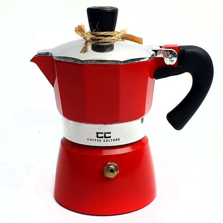 COFFEE CULTURE Red Coffee Maker 6 Cup