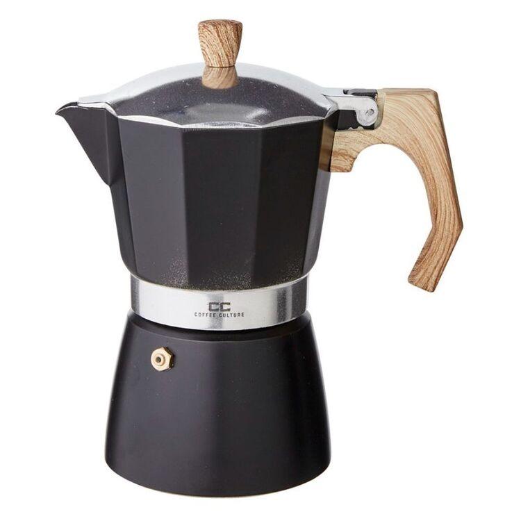 COFFEE CULTURE Black Coffee Maker 6 Cup