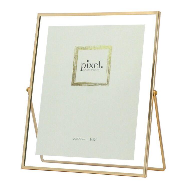PIXEL 20 x 25cm Avery Gold Floating Photo Frame