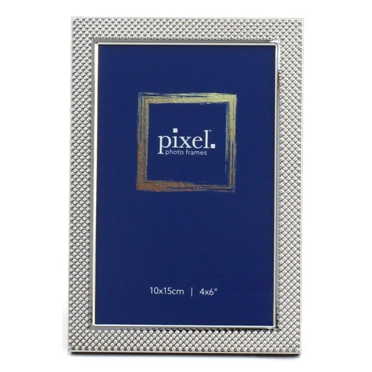 PIXEL 10 x 15cm Florence Textured Silver Photo Frame