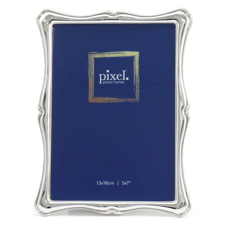 PIXEL 13 x 18cm Fleur Silver Photo Frame