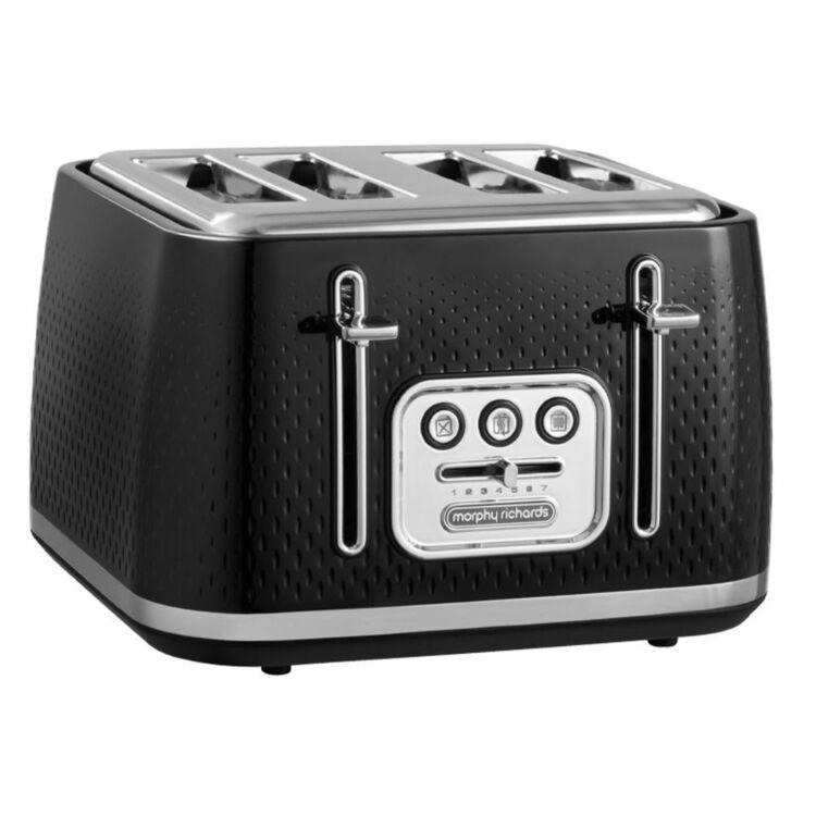 MORPHY RICHARDS Verve 4 Slice Toaster - Black