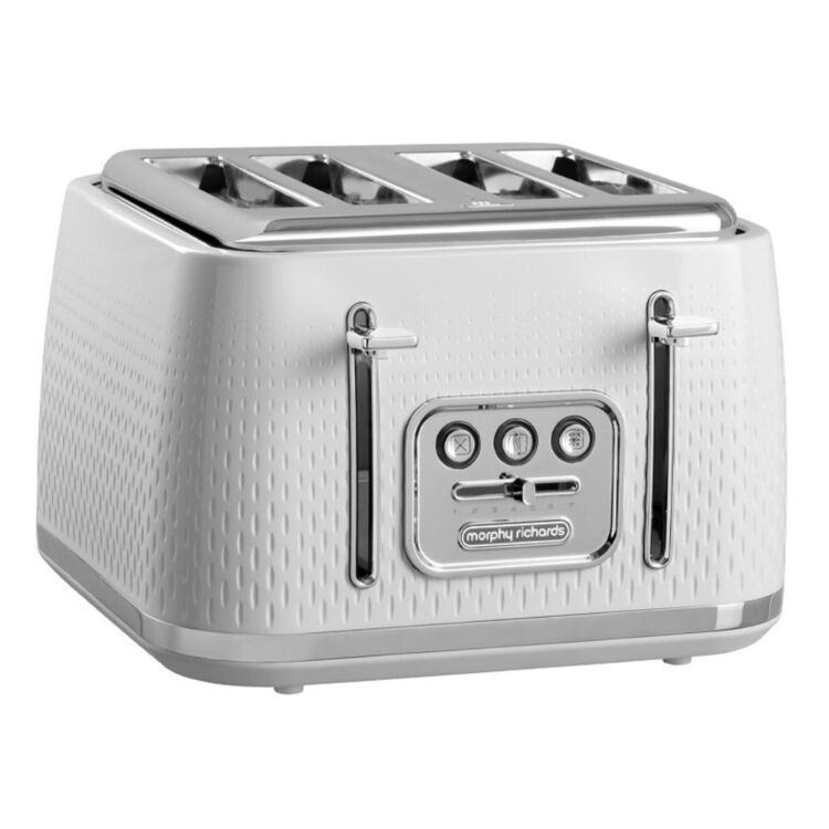 MORPHY RICHARDS Verve 4 Slice Toaster - White