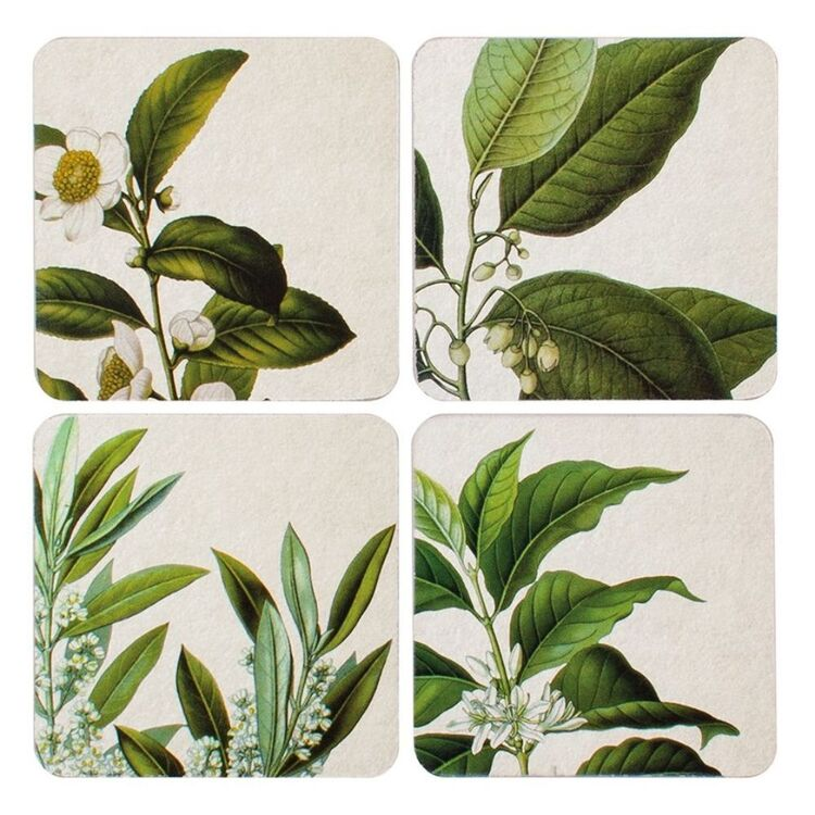 DINE BY LADELLE DINE BY LADELLE FLORA ASSORTED 4PK COASTER