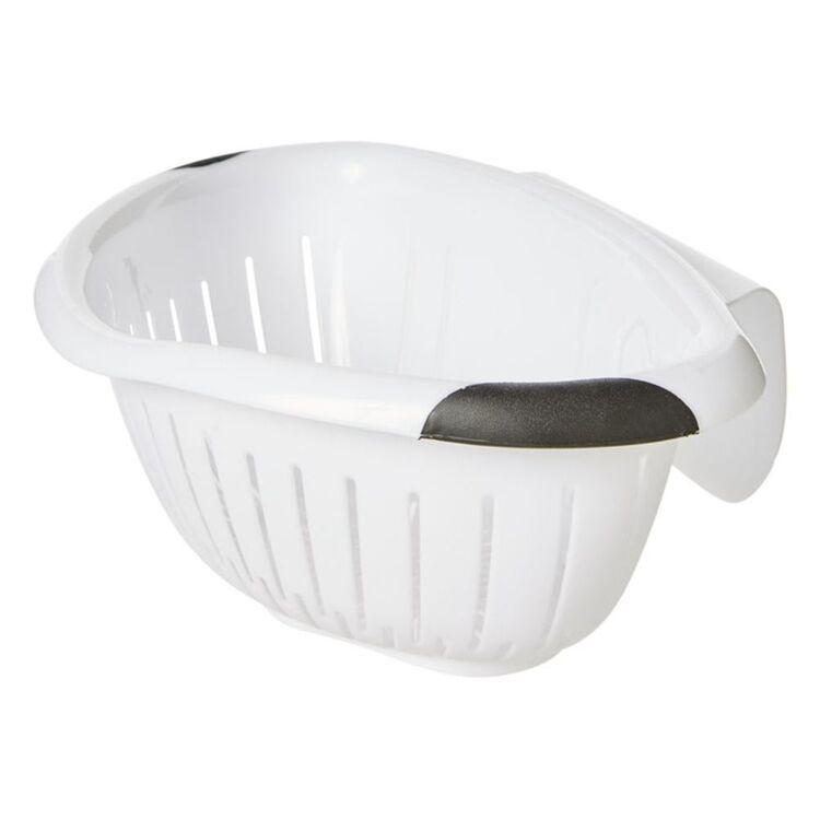 NO BRAND Over the Sink Colander Strainer White