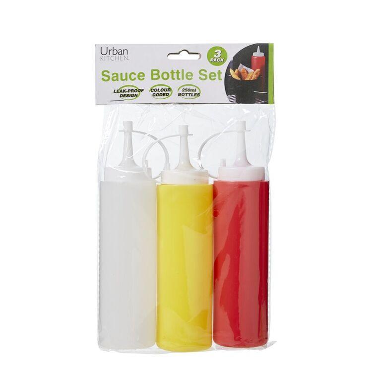 NO BRAND 3pc Sauce Bottles 250ml
