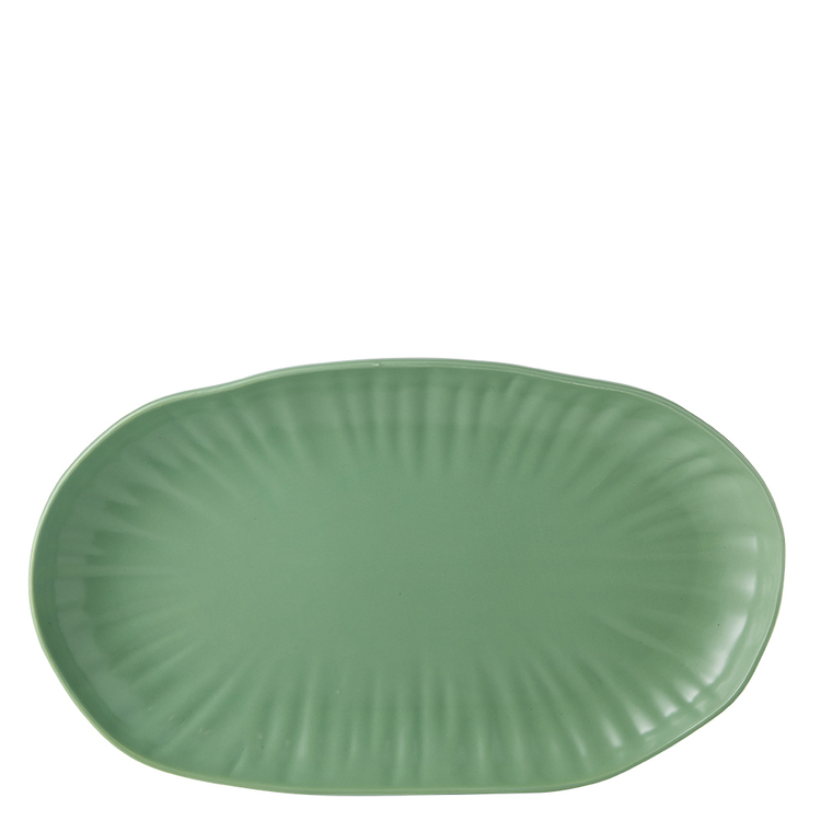 Chyka Home CHYKA DG LOTUS 36CM OVAL PLATE GRN