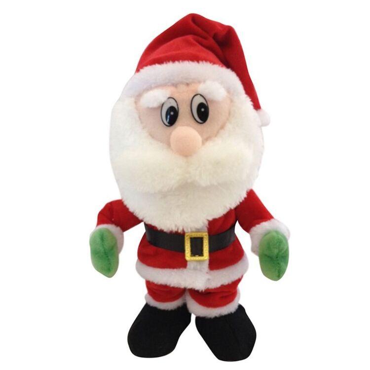 CHRISTMAS CHARM Dancing Side Shuffling Santa 30cm