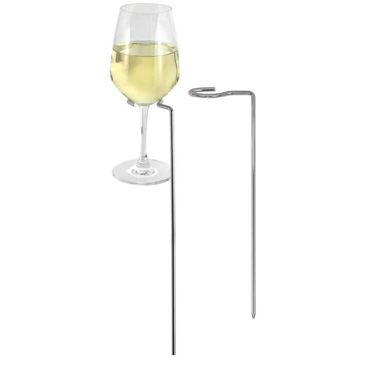 AVANTI CHROME PLATED STEMD GLASS STICK 2PC
