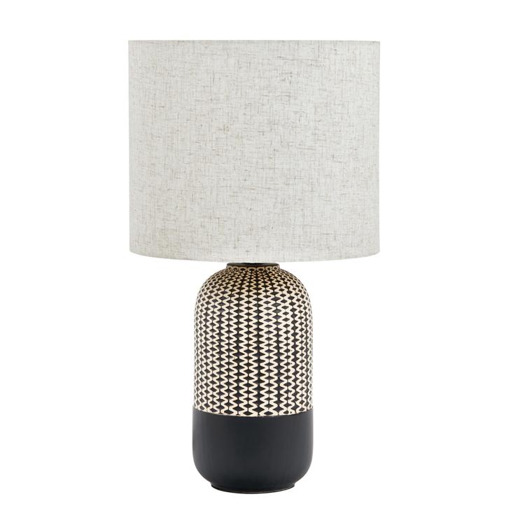 AMALFI RIVER TABLE LAMP BLK/NATURAL