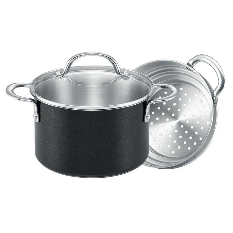 RACO Luminescence Stainless Steel 20cm Saucepan <(>&<)> Steamer Set